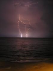Lightning in Treasure Beach (laisidoro) Tags: beach treasure set06
