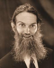Man with big beard