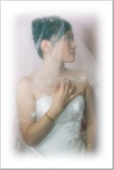 Wedding bride (thru-the-zuiko) Tags: portrait color film lens bride soft 28mm olympus fujifilm highkey 100 fullframe om wei zuiko hui stef reala om4 film135