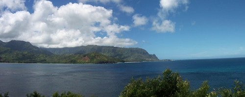 Hanalei Bay in Kauai by PetersReviewsDotCom.