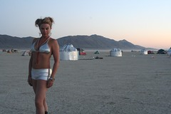 )'( (sharwest) Tags: me silver dusk burningman yurts otherworldly burningman2006 083106 takenbycampmategeoff