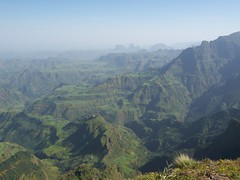 Simien mountains, Ethiopia (Moi of Ra) Tags: mountains landscape view empty hut ethiopia distance viewpoint tinroof simienmountains globalbackpackers