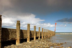 Beach preservation (~Glen B~) Tags: uk sea art beach sand nikond70 cleveland groyne teesside redcar groynes marske tamron28300mm marskebythesea satelliteportfolio