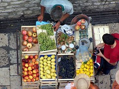 stall in Dubrovnik's old town (Croatia) (stempel) Tags: apple fruits fruit fig peach croatia pomegranate stall pear sell nectarine dubrovnik grape