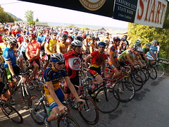 Start of the Tour de Leelanau bicycle race