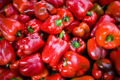 farmers market red peppers (monitorpop) Tags: vegetables 35mm canon farmersmarket vegetable 5d redpeppers 35l