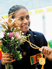Teenage swimming heroine Mayumi Raheem (Byflickr) Tags: swimming asian south games sri lanka qatar mayumi raheem asiangames mayumiraheem