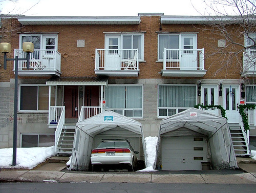Its tempo season spacing montreal its that time of year when people in many montreal neighbourhoods start installing much maligned tempo shelters to protect their driveways solutioingenieria Choice Image