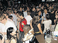 Closing Night at Happenings: June 30, 2004. (Queer History of Winnipeg) Tags: gay bar club lesbian geotagged winnipeg closing queer happenings queerhistory queerwinnipeg winnipeghistory geolat49886976 geolon97159427