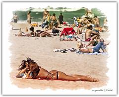Lazy October Afternoon - Fort Lauderdale Beach (Michael Pancier Photography) Tags: usa florida digitalart bikini southflorida fineartphotography naturephotography lucisart fortlauderdalebeach naturephotographer floridaphotographer michaelpancierphotography browardcountyflorida wwwmichaelpancierphotographycom