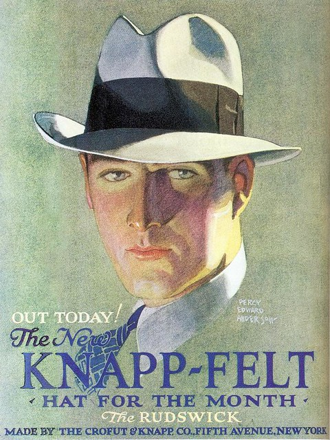 Percy Edward Anderson, Knapp-Felt Hats ad, 1929