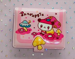 Pandapple Mushroom Card Holder (toriloveskitty) Tags: pink cute apple mushroom panda wallet sanrio card kawaii holder pandapple