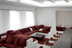 a space outta space (frischmilch) Tags: red white architecture germany relax design furniture kubrick interior room lounge cologne style retro afterwork couch agency spaceship form spaceshuttle interiordesign nordrheinwestfalen stylish redandwhite chillout interiorarchitecture retrostyle antwerpes doccheck retrolook roomdesign chilloutarea