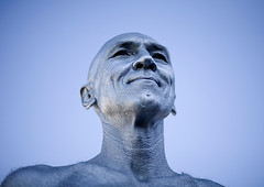 (nathalie booth) Tags: sanfrancisco california blue man silver alien burningman decompression silverman briquet nathaliepahudbriquet pahud sfchronicle96hours nathaliepahud nathaliebriquet
