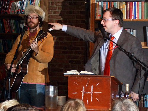 John K. Hodgman w/ Jonathan Coulton, at Coolidge Corner Theatre, 10/22