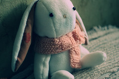 Krol (motypest) Tags: white rabbit toy craft plush plushies softie softies russian sute kroll krol bunnybear