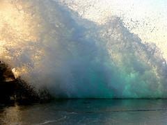 Big wave (esther**) Tags: blue light sea sun water rock bravo interestingness1 wave 2006 greece topf100 rhodes interestingness3 1000v40f exploretop20 sonydsch5 explore16oct2006
