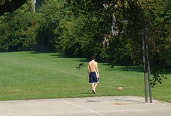 shot 05 2006.09.16 (tgkohn) Tags: park shirtless male basketball basket chest barechest dribble oneonone