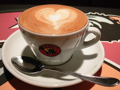 Love Coffee (Ahmed Rabea) Tags: new york love cup coffee bahrain heart spoon manama cappacino newyorkcoffee