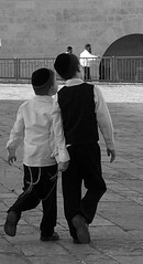 Brothers (Ever Upward) Tags: boy blackandwhite bw boys youth children religious israel hands child jerusalem middleeast international jew jew