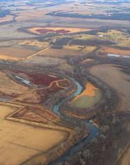 Patchwork (lefeber) Tags: river aerial farmland