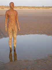 'that ones pissed himself!' (Kind Of New) Tags: uk england art liverpool place culture anthony gormley beah crosby ironmen annother bienial