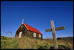 A small country church (Mri) Tags: church topf25 outside iceland bravo view small country abigfave mri krisuvikurkirkja