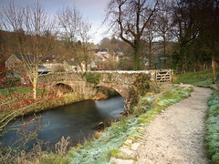 Milldale (jeff.dugmore) Tags: derbyshire peakdistrict england whitepeak dovedale dove river nationalpark rural nature bridge village hike walking serene outside frost cold coutryside winter hillwalking olympus nisi path
