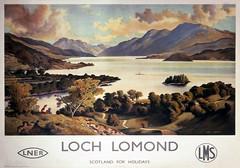 16a Loch Lomond. LNER & LMS poster by Patrick James McIntosh (Clementinos2009) Tags: railwaytouringcompany thewesthighlander2009 glasgowqueenstreethighlevelfortwilliam 61994thegreatmarquess patrickjamesmacintosh lochlomond