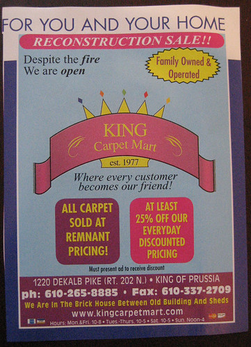 King Carpet Mart Ad