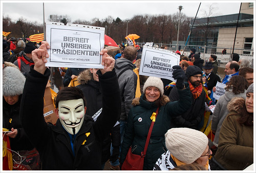 Free Puigdemont demo @ Berlin