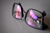 Thinking... (Arranion) Tags: police glasses reading thinking canon eos 40d 50mm f18 stm empty art reflection purple white black glass abstract specs