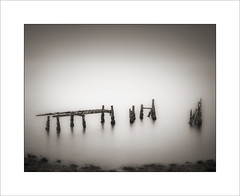 Loch Linnhe (tkimages2011) Tags: le longexposure loch linnhe scotland highlands fortwilliam water wood decay jetty groynes contemporary arty artistic moody vignette outdoor outside creative abstract old