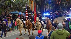 Semper Fi (BKHagar *Kim*) Tags: bkhagar mardigras neworleans nola la parade celebration people crowd beads outdoor street napoleon uptown proteus kreweofproteus horse horses