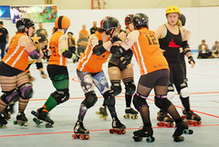118 (Bawdy Czech) Tags: lcrd lava city roller dolls spit fires basin bombers bend or oregon april 2018 skate derby wftda flat track bout