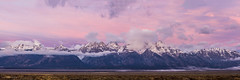 Grand Teton Sunrise Panorama (Frigid Light Photography) Tags: grandteton grandtetonnationalpark nationalpark panorama sunrise tetons wyoming