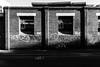 Bricks (OzGFK) Tags: australia canons100 cliftonhill fitzroy melbourne s100 victoria bright day streetphotography sunny urban blackandwhite monochrome bw street bricks contrast