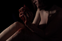 Heartache (Kainer Photo) Tags: blood gore nudeart nude heart woman gorephotografy