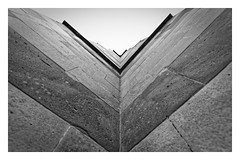 Into the Groove (Myrialejean) Tags: stone angles blocks monochrome stmarys church clumberpark nationaltrust