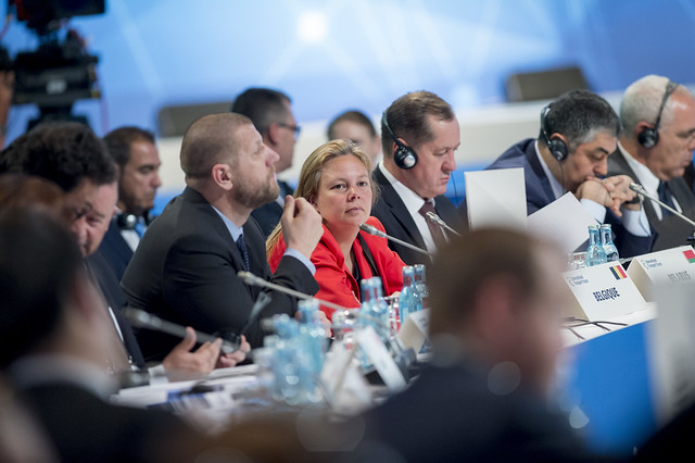 Valérie Verzele attending the Closed Ministerial