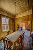 Miller House Dining Table, Bodie (Jeffrey Sullivan) Tags: miller house bodie park bridgeport mono county eastern sierra california usa wildwest ghosttown inside abandoned building landscape nature canon eos 6d photo copyright 2017 jeff sullivan may rural decay hdr photomatix