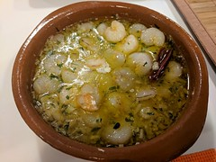 Gambas al ajillo (koukat) Tags: madrid cooking class point spain travel food cocina receta tapas recipes espana viaje