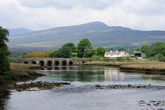 Lough Feeagh Bridge (gooey_lewy) Tags: ireland mayo mulranny sometimes spelled malaranny mullaranny mullranny or west atlantic clew bay great western greenway railway track old stone bridge river vista hills mountain hill cottage irish life lough feeagh
