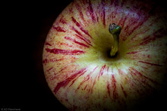 ...of my eye (The Frustrated Photog (Anthony) ADPphotography) Tags: foodanddrink food macro canon1585mm focusstack canon70d canon closeup closefocus blackbackground narrowdepthoffield fruit apple colours