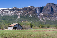 """""""The old barn"""" (Terje Helberg Photography) Tags: summer abandoned barn bluesky decay forfall grass hemsedal landscape landskap mountain natur nature neglected old outdoor outside roadtrip scenery sky snow trees unattended waterfall"""