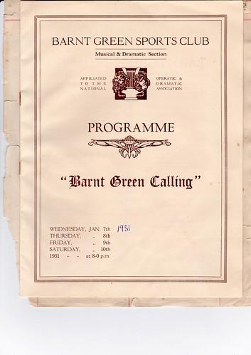 1931 Jan Programme 1