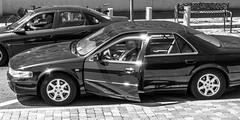 Chófer (143/365) (Walimai.photo) Tags: black white blanco negro byn bw branco preto car coche voiture chófer conductor driver lx5 lumix panasonic candid street retrato robado brillo shine