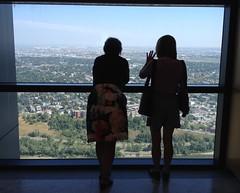 Happy Window Wednesday (Mr. Happy Face - Peace :)) Tags: hww window view skyscraper tower bowtower downtown calgary alberta canada windowwednesday strangers yyc candid art2018