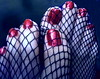 just her toes! (pbass156) Tags: toes toefetish feet foot footfetish fetish paintedtoes painted pedicure fishnet fishnets pantyhose nylon nylons sexy silky suckable