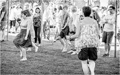 Whit Weekend , Barnard Castle , 2018 . (wayman2011) Tags: fujifilm1650f35f56 lightroomfujifilmxt10 wayman2011 bw mono rural people dancing candid pennines dales teesdale barnardcastle countydurham uk